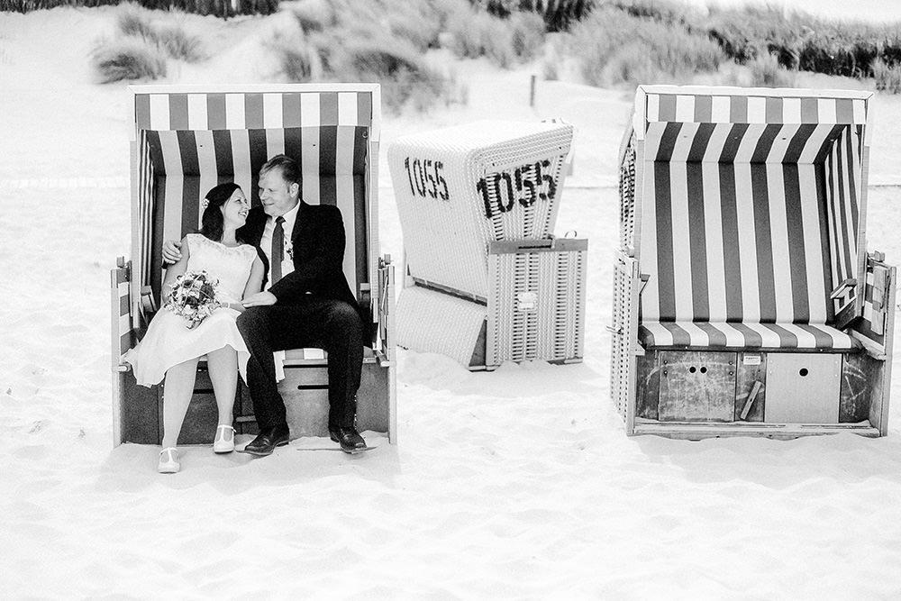 Hochzeitsfoto bzw Hochzeitsfotograf auf Wangerooge