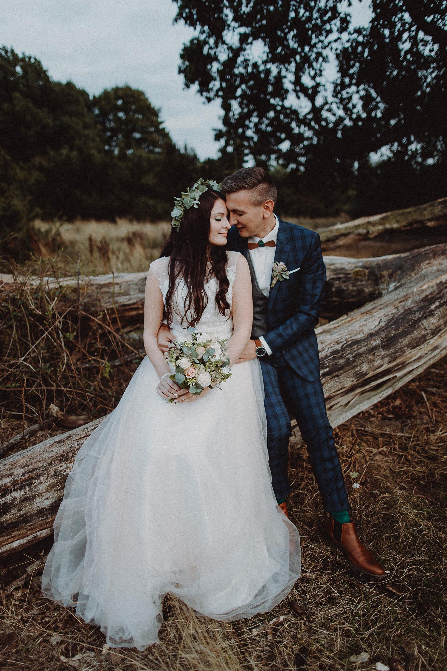 Hochzeitsfoto im Boho-Style eines Hochzeitsfotografen in Haselluenne